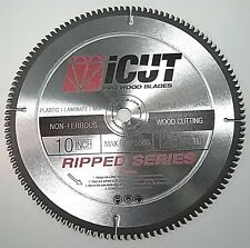 "10"" Non-Ferrous 120 Tooth iCut™Metal Cutting Circular Saw Blade Wood Plastic MDF"