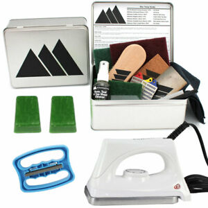 Ski Snowboard Tuning Universal Lime Wax Pro Tuning Kit Wax Edge & Iron