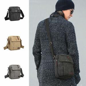 Unisex Multi Pocket Cross Body Shoulder Small Handbag Messenger Pouch Bag