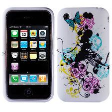 Silikon TPU Schutzhülle Ranke Apple iPhone 3G/3GS Floral Tendril White Colorful
