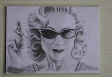 DR WHO RIVER SONG THE TIME OF THE ANGELS SKETCH CARD BY Wu Wei -2011