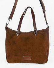 MARC JACOBS LIGERO SPORTY NINJA in Brown suede/Leather Shoulder Bag Msrp $528