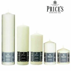 Price's Church Altar Candle Pillar Large Round Table Candles Long Burn Time