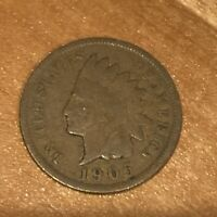 FREE SHIP! VG 1905 Indian Head Cent -116 Year Old Penny - Philadelphia Coin -L3