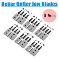 """6 Sets Replacement Jaw Blades for 5/8"""" Rebar Cutter Washers Round Steel Electric"""