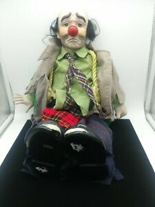 Dynasty Doll Collection Emmett Kelly's Willie The Hobo Clown 1983