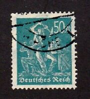 Germay stamp #228, used, 50c greenish blue, 1922-23, SCV $115.0o