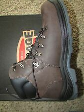 NEW IRON AGE TILLER WORK BOOTS MENS 13 SAFETY TOE WATERPROOF LEATHER  ASTM