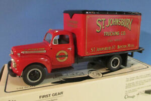 FIRST GEAR 1/34 1951 FORD ST JOHNSBURY DELIVERY TRUCK / COIN BANK 29-1498 NEW
