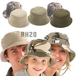 Bush Hat Camouflage Reversible Bucket Mens Ladies Surf Camo Sun Summer Fishing