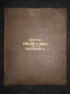 Bett's Itinerant & Commercial Map of England & Wales, Railways (1841) Victorian