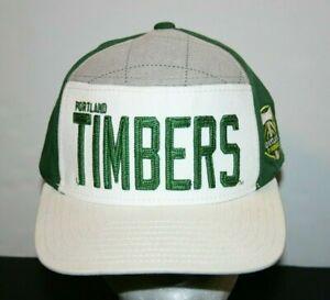 mens Adidas MLS Portland Timbers hat cap snap back white green 7 1/2