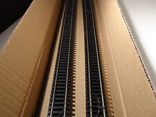 "HO ATLAS 168 CODE 100 SUPER FLEX TRACK 36""(10) PCS BLACK TIES BIGDISCOUNTTRAINS"