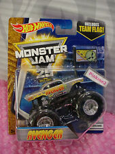 1992-2017 Monster Jam 25~4/7 Chrome Avenger; Chevy☆Team Flag☆Hot Wheels ☆1/64