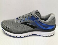 Brooks Men's Size 9 Adrenaline GTS 18 Running Sneakers Shoes Grey/Blue/Black