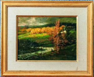 """Stunning: John Terelak - """"Last Light"""" Impressionist Landscape"""