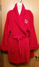 Hello Kitty Sanrio Women's Large L Soft  Red Fleece Robe With Kitty Face