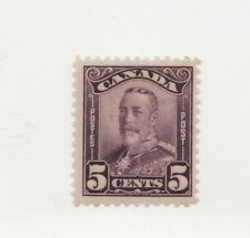CANADA  Scott #153* MH f+ 1928 King George V 'scroll' 5¢ issue postage stamp