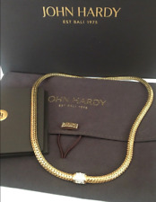 "$11,000 John Hardy Classic Chain 18k Solid Yellow Gold Diamond 5mm 16"" Necklace"