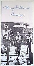 Henry Eriksson 1948 Olympic 1500m Gold Medal Winner - Original Ink Autograph