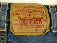 Levis 501xx rare vintage 7 belt loop button fly classic straight leg jeans USA