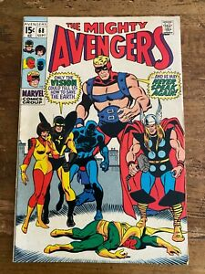 THE MIGHTY AVENGERS #68 Marvel Comics 1969 COMBINE SHIPPING Y
