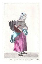 JOHN KAY Original Antique Hand-coloured Etching. The Edinburgh Fish-Women, 1812