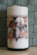 """Candle - Barn Gang - 2.8"""" x 5.5""""  - horse art by Turi Everett decorative candle"""