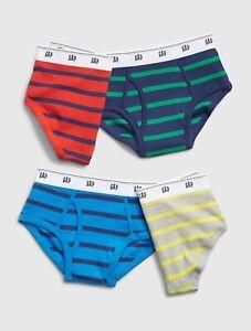 Gap Kids Boys Underwear Briefs Striped Pack 4 Size XX-Large XXL 14-16 New