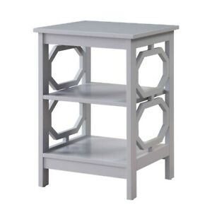 Convenience Concepts Omega End Table, Gray - 203210GY
