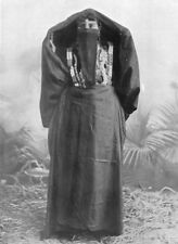 EGYPT. An Egyptian town woman in outdoor dress; yelek, yashmak, 'abaya 1900