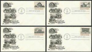 #1928-1931 18c American Architecture, Art Craft-H/C FDC ANY 5=