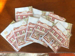 Set 12 New Carol Wilson Antiques Collectibles Shop Note Cards and Envelopes