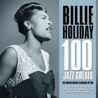 BILLIE HOLIDAY - 100 JAZZ GREATS - 4 CDS - NEW!!