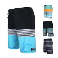 Men's Teen's Pocket Board Shorts 34 Size Swimming Sailing Swim Trunks Blue
