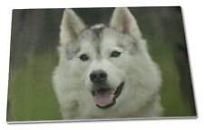 Siberian Husky Dog Extra Large Toughened Glass Cutting, Chopping Boa, AD-H65GCBL