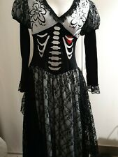 Day of the Dead LONG DRESS Costume - Pre Loved