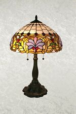 Stylish Tiffany Lamp with Flower Petal Design in Multi-Colors Lamp Shade 16""