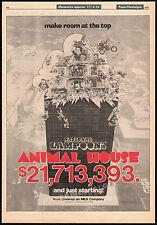 ANIMAL HOUSE__Original 1978 Trade AD promo / poster__JOHN BELUSHI__TIM MATHESON