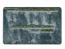 Vintage Airline Ticket Validation Plate VIASA VENEZUELAN AIRWAYS  travel agent