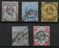 KEVII. Small Selection In Good/Fine Used Condition.Unchecked For I.D. Ref:07152