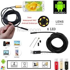 0.5-10M 2in1 6 LED PC Android Endoskop HD USB Endoskop 7mm Kamera Video IP67 LED