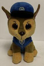 "Ty Beanie Baby Boos Paw Patrol Chase German Shepherd Dog 10"" Plush Police Puppy"