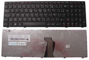 Clavier Français AZERTY pour ordinateur portable LENOVO B580 Noir