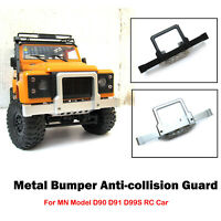 For MN D90 D91 D99S RC Upgrade Metal Bumper Anti-collision Guard Protect Plate
