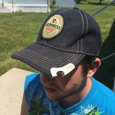 GUINNESS STOUT BEER BASEBALL CAP HAT BOTTLE CAP OPENER BLACK SNAPBACK PATCH
