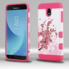 For Samsung GALAXY J7 2018 Phone Case Hybrid ShockProof Protective Cover Flowers