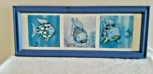 The Rainbow Fish book Marcus Pfister Art Print Triptych Picture Framed Wall Art