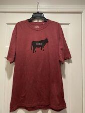 Prana Mens t-shirt size Xx Large Holy Cow Maroon Shirt Xxl Vguc
