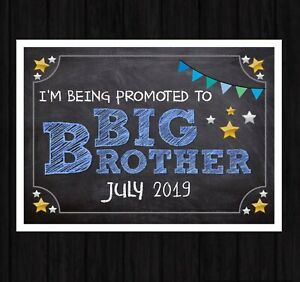 Personalised PREGNANCY ANNOUNCEMENT PRINT New Baby BIG BROTHER A4 Photo Prop